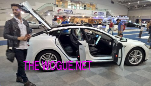 DAVID C. BLACK E TESLA SUPERCAR 2015 EVENTO ROMA
