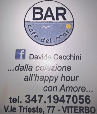 CAFE' DEL MARE VITERBO BAR DAVIDE CECCHINI